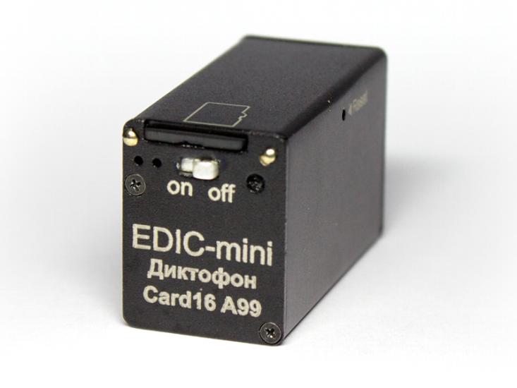 Edic-mini Card16 A99 — миниатюрный цифровой диктофон